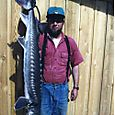 Ross with a Sturgeon